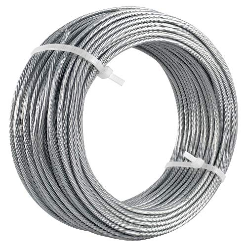 HangDone Picture Hanging Wire Vinyl Coated #6 100-Feet Supports up to 60lbs