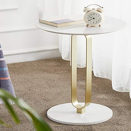 BIGMALL Nordic Creative Eisen Beistelltisch rundes Wohnzimmer Metall Industriestil Sofa/Beistelltisch kleine Home-Office-Möbel, (Größe: 50 * 50cm)
