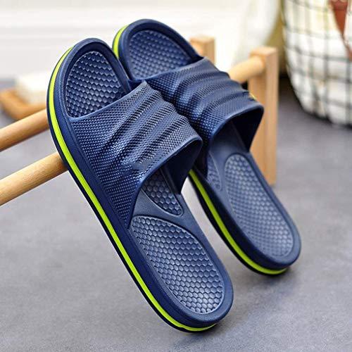 TQJ Apatillas de Baño Antideslizantes Zapatillas De Baño para Hombre Resbalones En Sandalias De Verano Baño Interior Antideslizante Sandalias De Baño Sandalias De Ducha (Size : 41)