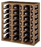 ZonaWine - Botellero con 6 columnas en Madera para 42 Botellas se apila y combina con Otros en cm Mide 75 * 68 * 32 Fondo - Pino Tintado en Roble