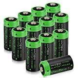 Enegitech CR123A Lithium Battery 3V 1600mAh with PTC Protection UL Certified for Arlo Security System VMS3230 Polaroid Camera Flashlight Torch Laser Pointer-12 Pack(Non-Rechargeable)