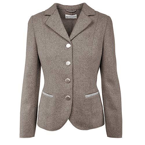 GIESSWEIN Walk Jacke Emma - edler Damen Blazer aus 100% Filz-Wolle, eleganter Frauen Janker mit taillierter Schnittführung, atmungsaktiv & warm