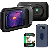 FLIR C3-X Pocket Thermal Camera with MSX, IP54 Rated Bundle with Deco Gear Power Bank 8000 mAh Digital Display with Wireless Device Charging and 1 Year Extended Protection Plan