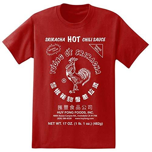 Sriracha Hot Chili Sauce Irwindale Red Men's T-Shirt New