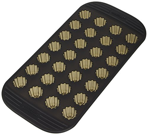 Mastrad - Backform/Pfanne für 28 Mini-Cannelés, Silikon, Antihaftend, Spülmaschinenfest, Hitzebeständige Cannelés Form