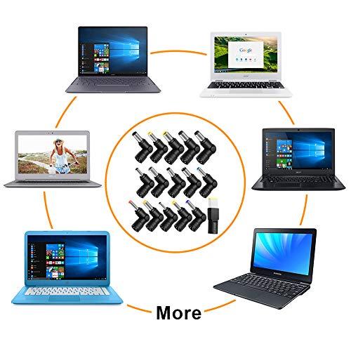 ZOZO 90W AC Universal Laptop Charger for HP Dell Toshiba IBM Lenovo Acer ASUS Samsung Sony Fujitsu Gateway Notebook Ultrabook Chromebook DC Output 15V 16V 18.5V 19V 19.5V 20V Power Adapter Supply Cord
