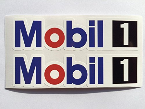 2 Mobil 1 Racing Exxon Die Cut Decals