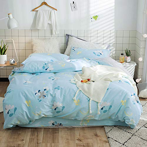 Yaonuli dekbedovertrek, katoen, bloemenboeket, warm, 4-delig, 1,5 tot 2,0 bed, kan worden gebruikt, dekbedovertrek 200 x 230 vellen, 250 x 250 cm, kussensloop 48 x 74 x 2