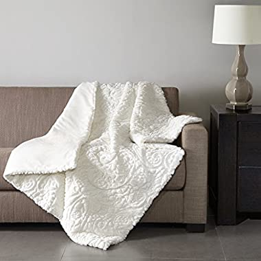 Norfolk Ultra Plush Down Alternative Throw Ivory 50x60