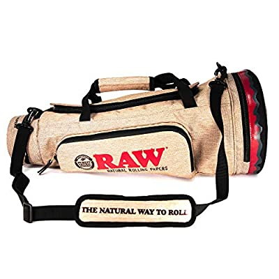 RAW Cone Duffelbag - Multiple Compartments - 5 Layer Foil Lined Smell Resistant Silicon Zippered Pouch - 22'' x 9'' x 9''