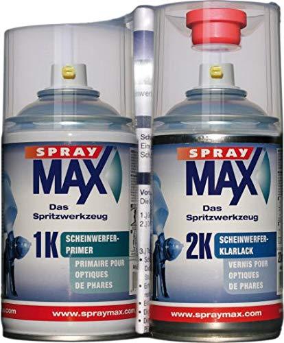 SprayMax Scheinwerfer- Reparatur - Set 250 ml 1K Primer 250 ml 2K Klarlack 684099