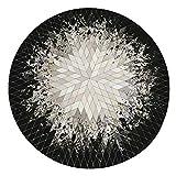 rutschfeste runde Matte Sitting Pad Area Teppiche waschbarer Teppich Rotray Chair Mat für Schlafzimmer Dekor MEHRWEG VERPACKUNG socialme-eu(100cm)