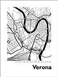 Poster 30 x 40 cm: Stadtplan von Verona von 44spaces -