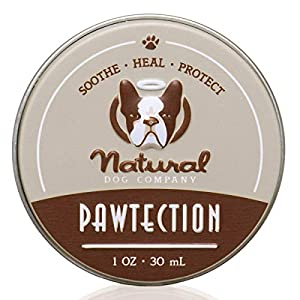 Natural Dog Company PawTection Dog Paw Balm Tin, Protects Dog Paws from Heat, Salt, Snow, Prevents Paw Damage, Organic, All Natural Ingredients