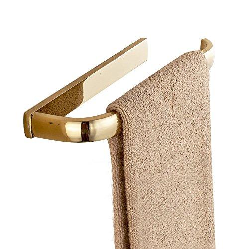 Weare Home Porta asciugamani in ottone per bagno e toilette 30 * 7.8 * 4cm Oro