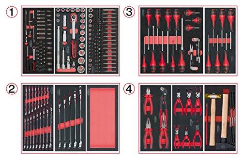 KS Tools 714.0241Material-241Werkzeug 4Schubladen für Werkstattwagen
