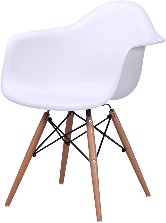 LRW European Dining Chair, Home Leisure Chair, Plastic Chair, Modern Computer Chair, White