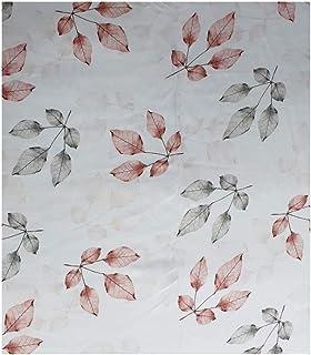 Women's Cream Modal Digital Pink Flower Printed Fabric for Kurtis/Frock/Salwar Suit