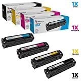 LD Remanufactured Toner Cartridge Replacement for HP 128A (Black, Cyan, Magenta, Yellow, 4-Pack)