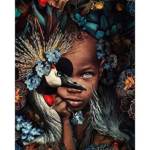 TTTTYYY Puzzle 2000 Pezzi Adulti (African Girl) Rompecabezas para niños Adolescentes y Adultos Colorido Juego de Habilidad para Toda la Familia Puzzle para Adultos