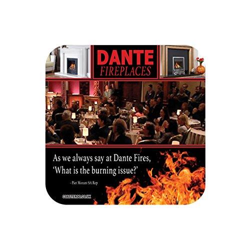 Coasteroo Dante FIREPLACES – Alan Partridge – Parodia Corporativa – imán de Nevera – 57 mm x 57 mm – Acabado Brillante – diseño de TV/televisión