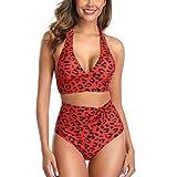 VECDY Bañador Sexy Push Up Mujer Ropa De Playa 2019 Estampado Monokini 2 Piezas Bikini Traje De Baño Vendaje Ropa Interior (S, Zared)