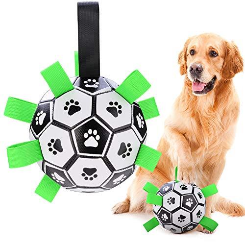 BlueFire Hundespielzeug Ball Hundeball 15cm Kauspielzeug Robuster aus Naturkautschuk Hundespielball IQ-Trainingsball Interaktives Haustierspielzeug für Mittelgroße und Kleine Hunde Haustiere