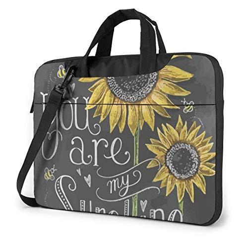 You Are My Sunshine Sun-Flower Funda para computadora portátil Bolsa de Mano para computadora Bolso Bandolera para Viajes de Negocios