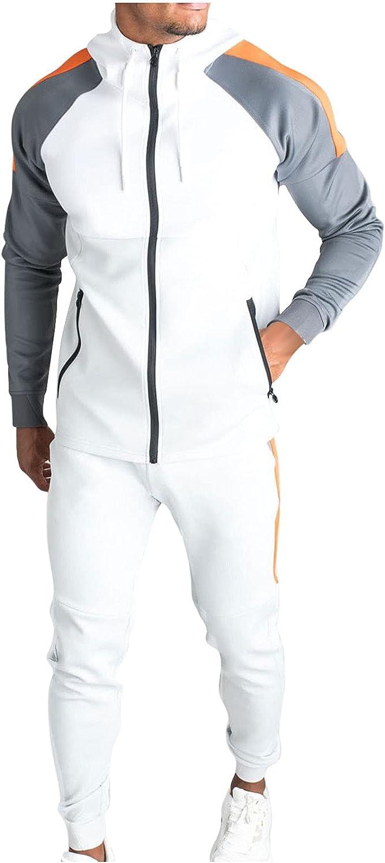 Men's Zip Up Tracksuit Fall 2 Superlatite Sports Piece Sleeve High order Athletic Long