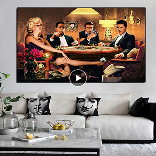 Danjiao Decoracion Hogar Moderno Poster Und Drucke James Dean Marilyn Leinwand Malerei Wandkunst Bilder Poster Für Wohnzimmer Dekor Wohnzimmer 40x60cm