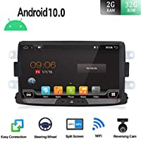 Android 9.0 Autoradio 1 Din Car Stereo Compatible para Renault Duster/Dacia Sandero/Lada Xray 2/Renault Captur/Logan Coche Navegacion GPS   8 pulgadas 2G+32G Octa Core   LIBRE Cámara trasera & Canbus