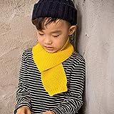 LIUQIAN Color Puro de los niños de Punto Bufanda de Lana de bebé de Invierno Cientos de Cuello Caliente 118 * 9. 5 cm