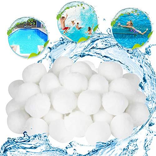 EKKONG Filter Balls,Pool Filter Balls,500g ersetzen 18 kg Filtersand, Filterkugeln für Innen- und Außenpools, Filterpumpen und Aquariumsandfilter,filtermaterial.(500g)