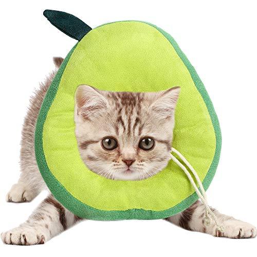 AEITPET Collar isabelino Gato, Collar de recuperación para Mascotas, Collar de protección para Gatos, de Mascota Collar Cono Protector Collares de Suave Ajustable Collar (M, Verde)