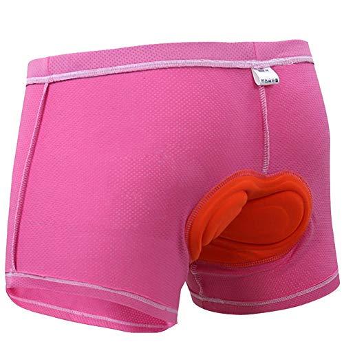 Tianfu - Pantalones cortos acolchados 3D para ciclismo y ciclismo para hombre, ropa interior de ciclismo para hombre, 3D acolchados para bicicleta MTB calzoncillos de ciclismo, mezcla de fibra química, color rosa