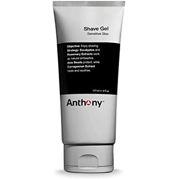 Anthony Shave Gel, 6 Fl Oz, Contains Aloe Vera Beads, Eucalyptus, Rosemary, and Carrageenan Extracts, Heals, Soothes, Protects Your Skin for A Smooth Shave