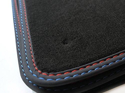 kh Teile 1402 Fußmatten M5 Edition, Velour Doppelnaht Automatten Premium 4-teilig