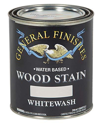 General Finishes Water Based Wood Stain, 1 Quart, Whitewash