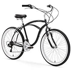"Single speed cruiser bike, great for casual rides around town, by the beach, or throw the neighborhood 19"" Frame, 26"" Wheels, will fit most adult men 5'5"" and above Classic cruiser frame design with oversized dual spring saddle and balloon tires Simp..."
