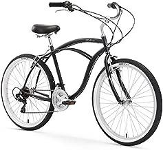 Firmstrong Urban Man Beach Cruiser Bike, Mens Bicycle 26-Inch, 7-Speed, Matte Black