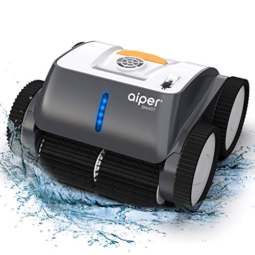 AIPER SMART Cordless Robotic Pool Cleaner, Wall-Climbing, Triple-Motor, Intelligent Route Plan Tech Automatic Pool Cleaner, Max Cleaning Coverage, Ideal for in/Above Ground Pools Suit for 1614 Sq Ft