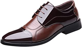 Kstare Mens Classic Formal Business Dress Leather Cap Toe Oxford Lace Up Comfortable Modern Shoes for Men