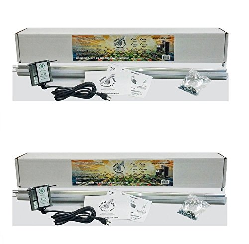 Introducing (2) Light Rail 3.5 Extreme Duty Version IntelliDrive Kits Motor and Rail, Robotic Grow Light Mover Genuine Solidly Made in USA
