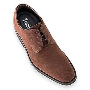 Zapatos de Hombre con Alzas Que Aumentan Altura hasta 7 cm. Fabricados en Piel. Modelo Lawson Marron 42