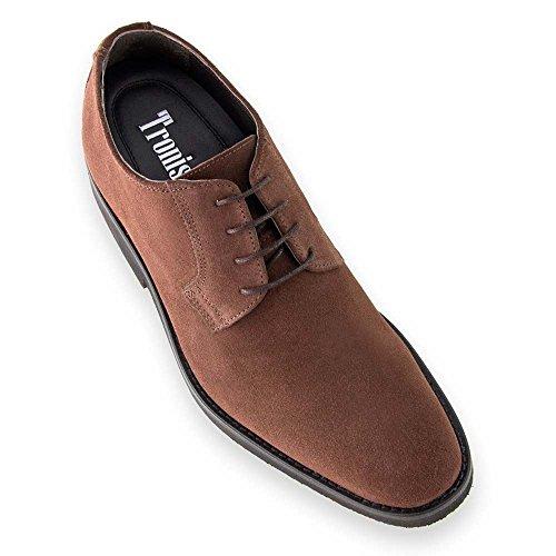 Zapatos de Hombre con Alzas Que Aumentan Altura hasta 7 cm. Fabricados en Piel. Modelo Lawson Marron 43