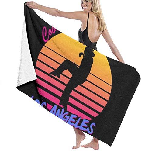 KOMOBB Toalla de baño Cobra Kai Los Angeles 80S Silhouette de 5 estrellas, calidad de hotel de primera calidad. Toalla de baño de colección premium, suave, felpa y altamente absorbente, 80 x 130 cm