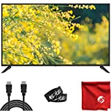 Sansui 50-Inch 4K UHD DLED Smart TV (S50P28UA) Ultra-Light Slim Built-in HDMI, USB, High Resolution Bundle with Circuit City 6-Foot High Definition 4K HDMI Cable, Microfiber Cloth and 2X Cable Ties