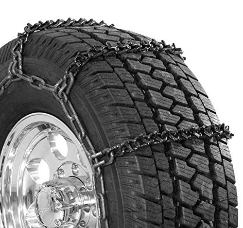 Security Chain Company QG3829 Quik Grip Wide Base V-Bar Type RD Light Truck Tire Traction Chain - Set of 2