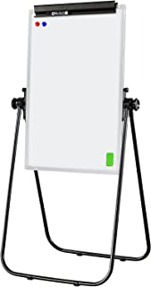 HAND IN HAND U-Stand Whiteboard Flip Chart Easel, Adjustable Height, Adjustable Angle, for Office School Store Presentatio...