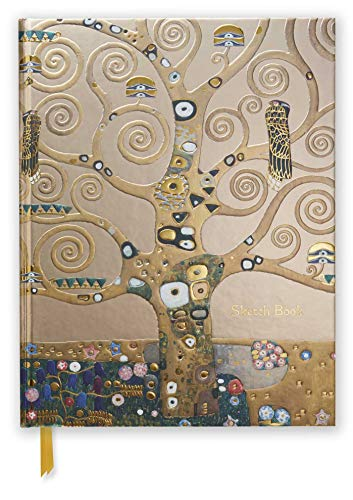 Premium Skizzenbuch: Gustav Klimt, Lebensbaum: Unser hochwertiges Blankbook mit festem, künstlerisch geprägtem Einband im Format 28 cm x 21,6 cm